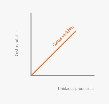 Gráfico representativo de los costos variables