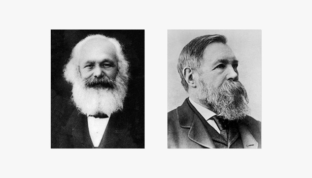 Marx y Engels, representantes del marxismo
