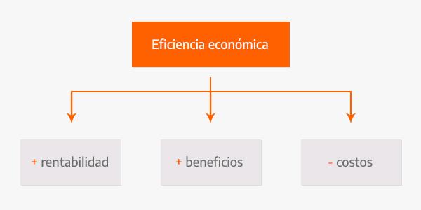 Gráfico de la eficiencia económica