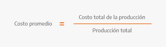 Fórmula para calcular costo promedio