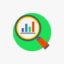 Icono de la frecuencia en estadística