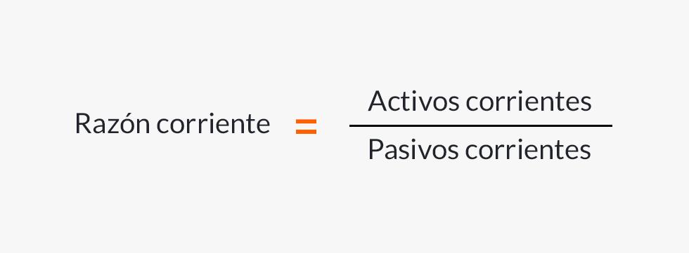 Fórmula de la razón corriente